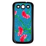 Carnations Samsung Galaxy S3 Back Case (Black)