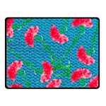 Carnations Double Sided Fleece Blanket (Small)