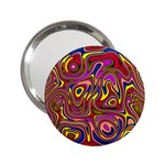 Abstract Shimmering Multicolor Swirly 2.25  Handbag Mirrors