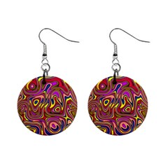 Abstract Shimmering Multicolor Swirly Mini Button Earrings by designworld65