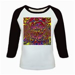Abstract Shimmering Multicolor Swirly Kids Baseball Jerseys