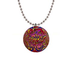 Abstract Shimmering Multicolor Swirly Button Necklaces by designworld65