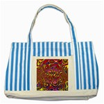 Abstract Shimmering Multicolor Swirly Striped Blue Tote Bag