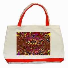 Abstract Shimmering Multicolor Swirly Classic Tote Bag (red) by designworld65