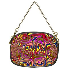 Abstract Shimmering Multicolor Swirly Chain Purses (two Sides)  by designworld65
