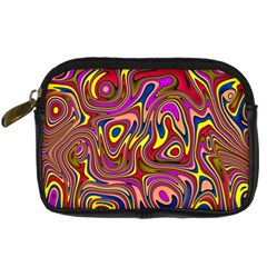 Abstract Shimmering Multicolor Swirly Digital Camera Cases by designworld65