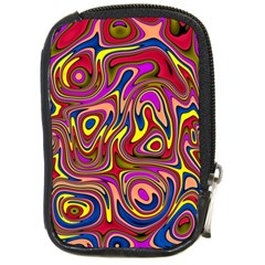 Abstract Shimmering Multicolor Swirly Compact Camera Cases by designworld65