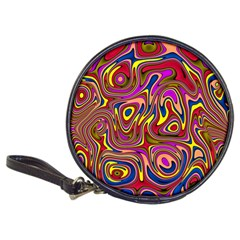 Abstract Shimmering Multicolor Swirly Classic 20 Cd Wallets by designworld65