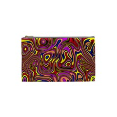 Abstract Shimmering Multicolor Swirly Cosmetic Bag (small)  by designworld65