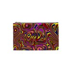 Abstract Shimmering Multicolor Swirly Cosmetic Bag (Small)