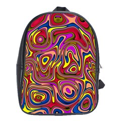 Abstract Shimmering Multicolor Swirly School Bags(large)  by designworld65