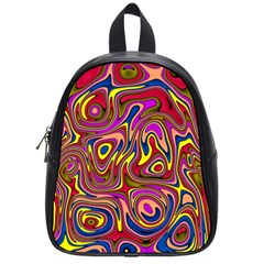 Abstract Shimmering Multicolor Swirly School Bags (small)  by designworld65