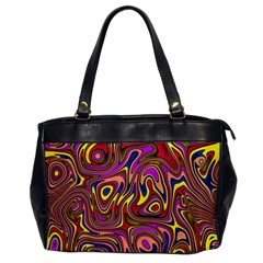 Abstract Shimmering Multicolor Swirly Office Handbags by designworld65