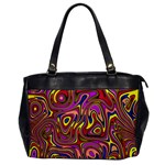 Abstract Shimmering Multicolor Swirly Office Handbags