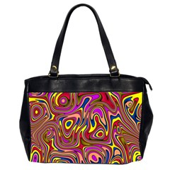 Abstract Shimmering Multicolor Swirly Office Handbags (2 Sides)  by designworld65