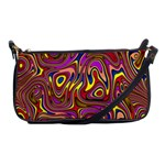Abstract Shimmering Multicolor Swirly Shoulder Clutch Bags