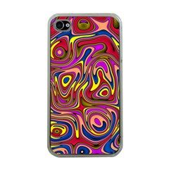 Abstract Shimmering Multicolor Swirly Apple Iphone 4 Case (clear) by designworld65