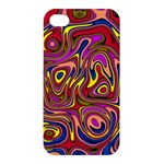 Abstract Shimmering Multicolor Swirly Apple iPhone 4/4S Hardshell Case