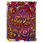 Abstract Shimmering Multicolor Swirly Apple iPad 3/4 Hardshell Case (Compatible with Smart Cover)