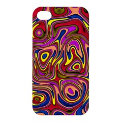 Abstract Shimmering Multicolor Swirly Apple Iphone 4/4s Premium Hardshell Case by designworld65