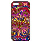 Abstract Shimmering Multicolor Swirly Apple iPhone 5 Seamless Case (Black)