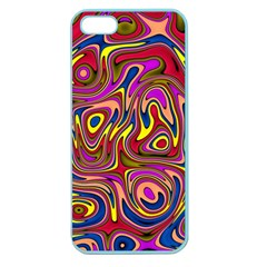 Abstract Shimmering Multicolor Swirly Apple Seamless Iphone 5 Case (color) by designworld65