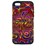 Abstract Shimmering Multicolor Swirly Apple iPhone 5 Hardshell Case (PC+Silicone)