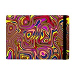 Abstract Shimmering Multicolor Swirly Apple iPad Mini Flip Case