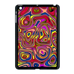 Abstract Shimmering Multicolor Swirly Apple Ipad Mini Case (black) by designworld65