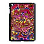 Abstract Shimmering Multicolor Swirly Apple iPad Mini Case (Black)