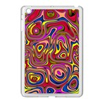Abstract Shimmering Multicolor Swirly Apple iPad Mini Case (White)