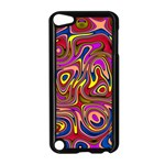 Abstract Shimmering Multicolor Swirly Apple iPod Touch 5 Case (Black)