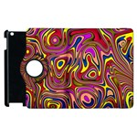 Abstract Shimmering Multicolor Swirly Apple iPad 3/4 Flip 360 Case