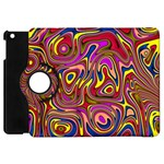 Abstract Shimmering Multicolor Swirly Apple iPad Mini Flip 360 Case