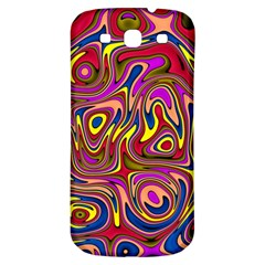 Abstract Shimmering Multicolor Swirly Samsung Galaxy S3 S Iii Classic Hardshell Back Case by designworld65