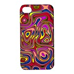 Abstract Shimmering Multicolor Swirly Apple iPhone 4/4S Hardshell Case with Stand