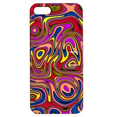 Abstract Shimmering Multicolor Swirly Apple Iphone 5 Hardshell Case With Stand by designworld65