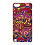 Abstract Shimmering Multicolor Swirly Apple iPod Touch 5 Hardshell Case with Stand