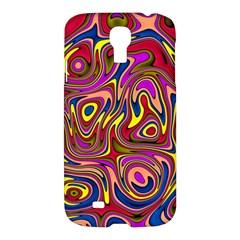 Abstract Shimmering Multicolor Swirly Samsung Galaxy S4 I9500/i9505 Hardshell Case by designworld65