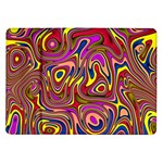 Abstract Shimmering Multicolor Swirly Samsung Galaxy Tab 10.1  P7500 Flip Case