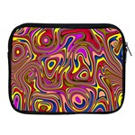 Abstract Shimmering Multicolor Swirly Apple iPad 2/3/4 Zipper Cases