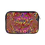 Abstract Shimmering Multicolor Swirly Apple iPad Mini Zipper Cases