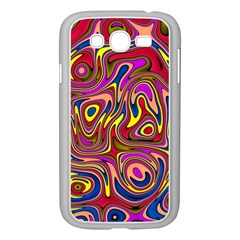 Abstract Shimmering Multicolor Swirly Samsung Galaxy Grand Duos I9082 Case (white) by designworld65