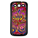 Abstract Shimmering Multicolor Swirly Samsung Galaxy S3 Back Case (Black)