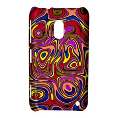 Abstract Shimmering Multicolor Swirly Nokia Lumia 620 by designworld65