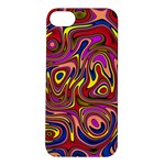 Abstract Shimmering Multicolor Swirly Apple iPhone 5S/ SE Hardshell Case