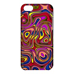 Abstract Shimmering Multicolor Swirly Apple Iphone 5c Hardshell Case by designworld65