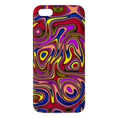 Abstract Shimmering Multicolor Swirly Iphone 5s/ Se Premium Hardshell Case by designworld65