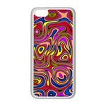 Abstract Shimmering Multicolor Swirly Apple iPhone 5C Seamless Case (White)