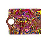 Abstract Shimmering Multicolor Swirly Kindle Fire HD (2013) Flip 360 Case